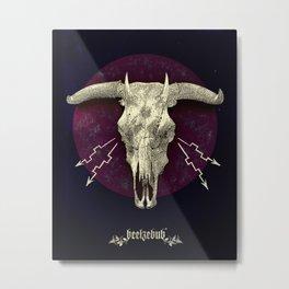 Beelzebub - devilish hybrid creature skull Metal Print