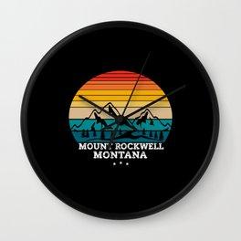 MOUNT ROCKWELL Montana Wall Clock