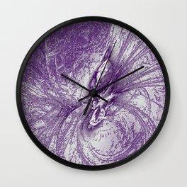 Splatter in Grape Wall Clock