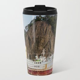 Ship Yard in Wakayama Fishing Village Travel Mug