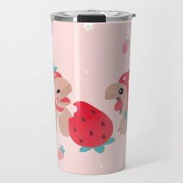 Tortoises love strawberries Travel Mug