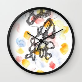 Scandi Micron Art Design | 170808 Micron Watercolour 12 Wall Clock