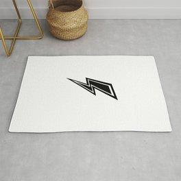 Lightning - Black and White Rug