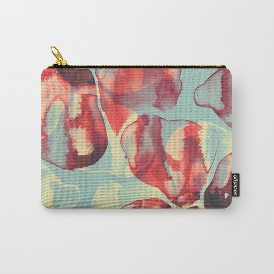 Ink Flowers Carry-All Pouch
