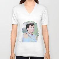 louis tomlinson V-neck T-shirts featuring PRINCE LOUIS TOMLINSON by Flambino Gambino