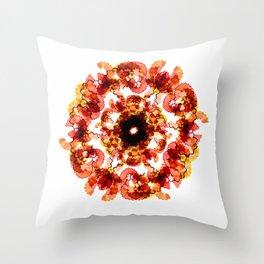 Illustrator's Mandala Throw Pillow