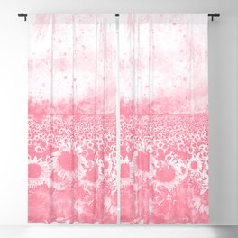 abstract sunflowers wspw Blackout Curtain