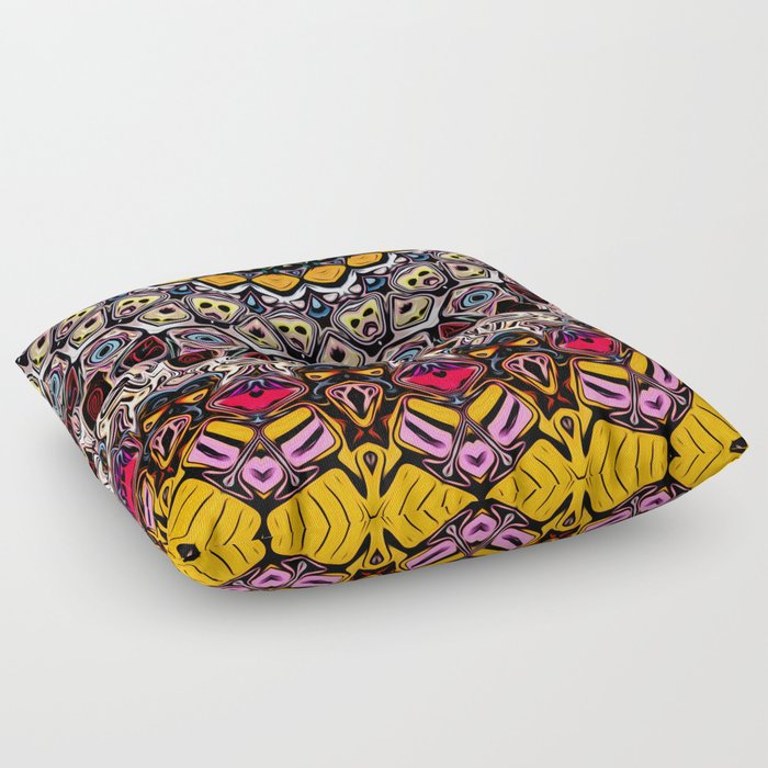 Colorful Balance of Shapes Floor Pillow