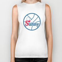 always sunny Biker Tanks featuring It's Always Sunny and 76 by HuckBlade