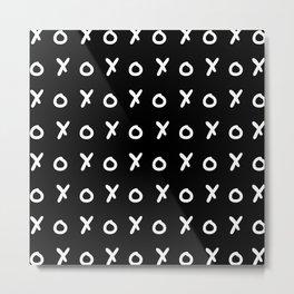 Black & White X&O's Metal Print