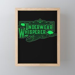 Underwear Whisperer with gassy fart graphics. Framed Mini Art Print