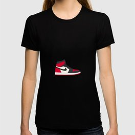 Jordan 1 Bred Toe  T-shirt