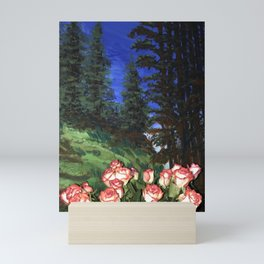 Wild Roses in the Forest Mini Art Print