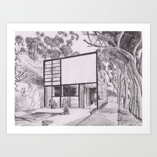 The Eames House  Art Print