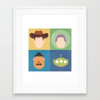 toy story Framed Art Prints featuring Toy Story by Raquel Segal