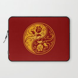 Yellow and Red Yin Yang Roses Laptop Sleeve