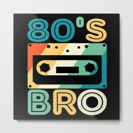 80s Fashion 80s 80s Party 80s Music Metal Print