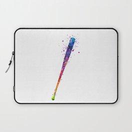 Baseball Bat Softball Art Colorful Watercolor Gift Laptop Sleeve