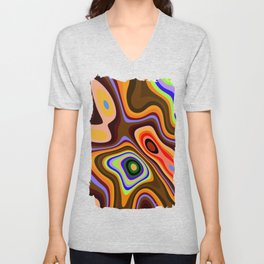 Colourful fluid abstract Unisex V-Neck