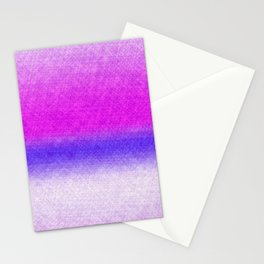 Abstract lilac blue pink geometrical ombre Stationery Cards