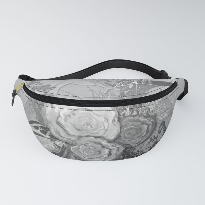 50 Shades of lace Silver Silver Fanny Pack