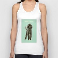poodle Tank Tops featuring Poodle by Katherine Coulton
