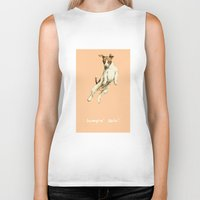 jack russell Biker Tanks featuring Jack Russell by Katherine Coulton