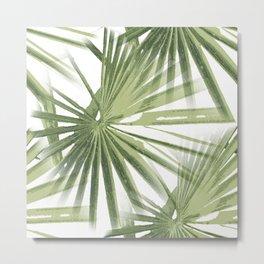 Tropical Beach Palm Vector Metal Print