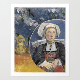 La Belle Angele by Paul Gauguin Art Print