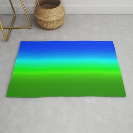 Blue Sky Green Grass Deconstructed (blue to green ombre gradient) Rug