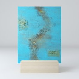 Earth. Texture. Blue. Jodilynpaintings. Brown. Abstract. Earths Crust. Mini Art Print