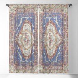 Wonderfully Detailed Persian Rug Oriental Victorian Style Carpet Design Sheer Curtain