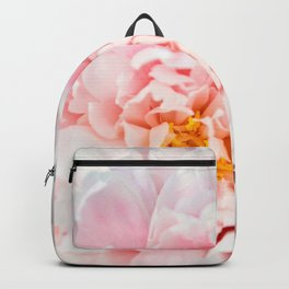 Peony Flower Photography, Pink Peony Floral Art Print Nursery Decor A happy life - Peonies 2 Backpack