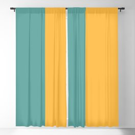 Half Turquoise Amber Blackout Curtain