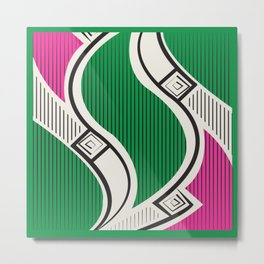 African Tribal Pattern No. 72 Metal Print