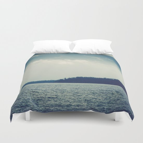 The Past Is Gone Duvet Cover