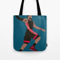 lebron Tote Bags featuring Lebron by rusto