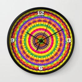 Batik Bullseye Wall Clock
