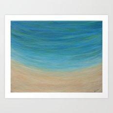 Seas The Day beach painting Art Print