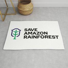 SAVE AMAZON RAINFOREST Rug