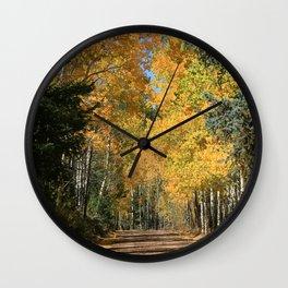 Fall Road, Colorado Wall Clock
