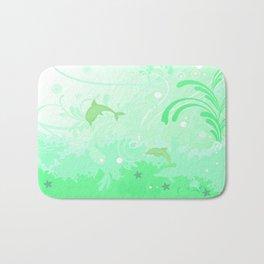 Dolphins Swimming Bath Mat