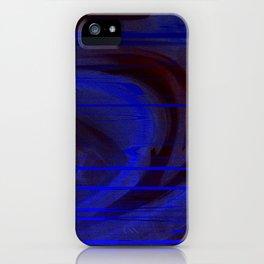 blue matrix iPhone Case