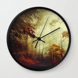 That's not my way - misty woodland Wall Clock