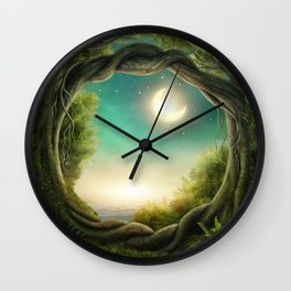 Magic Moon Tree Wall Clock