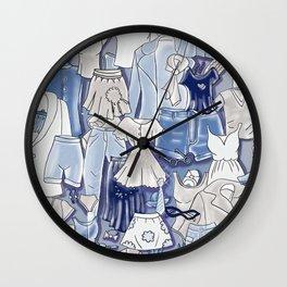 GREY CLOTHES Wall Clock