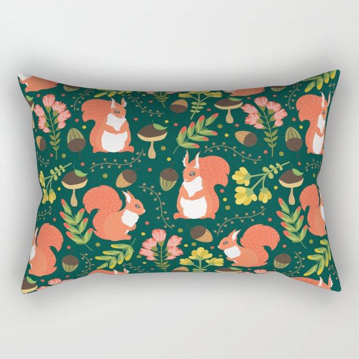Cute squirrels Rectangular Pillow