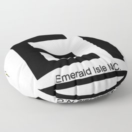 Emerald Isle - North Carolina. Floor Pillow