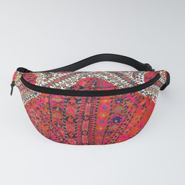 Pink Wildflower Sunshine III // 18th Century Colorful Pinkish Red Blue Sapphire Metallic Happy Patte Fanny Pack