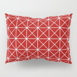 Nordic lines red Pillow Sham